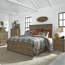 King Panel Bed, Dresser & Mirror, Chest, N/S