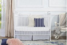 Washed White Abigail 3-in-1 Convertible Crib