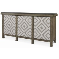 Mesa Buffet With Marble Top & Uph Door Fronts Product Image