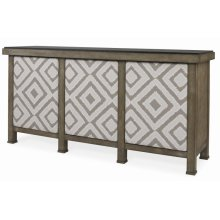 Mesa Buffet With Marble Top & Uph Door Fronts