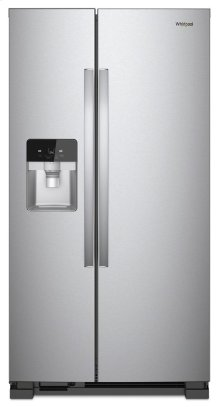 GREAT DEAL- MINOR REPAIR MADE FOR FAN QUIETNESS -WHIRLPOOL STANDARD DEPTH 33-inch Wide Side-by-Side Refrigerator - 21 cu. ft. / MODEL WRS321SDHZ