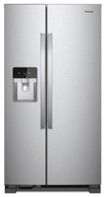 GREAT DEAL- MINOR REPAIR MADE FOR FAN QUIETNESS -WHIRLPOOL STANDARD DEPTH 33-inch Wide Side-by-Side Refrigerator - 21 cu. ft. / MODEL WRS321SDHZ