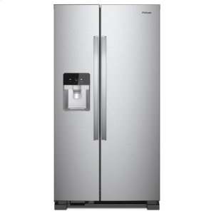 33-inch Wide Side-by-Side Refrigerator - 21 cu. ft. - FINGERPRINT RESISTANT STAINLESS STEEL