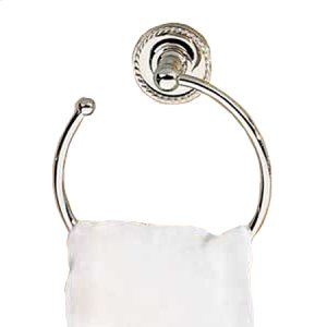 Polished-Chrome Towel Ring - Open Product Image
