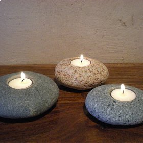 Tealight Pebbles