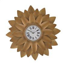 Gold Petal Wall Clock