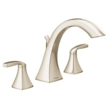 Voss polished nickel two-handle roman tub faucet