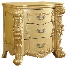 "Zelda Gold Night Stand - 30""L x 20""D x 30.5""H"