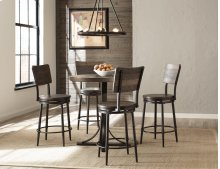 Jennings Round Counter Height Table W/ Metal Base and Swivel Stools