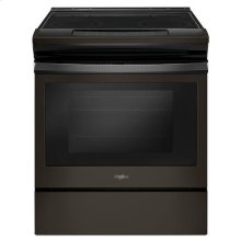Whirlpool® 4.8 cu. ft. Guided Electric Front Control Range With The Easy-Wipe Ceramic Glass Cooktop - Black Stainless
