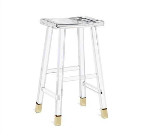 Reva Bar Stool - Brass