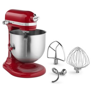 KitchenAidNSF Certified® Commercial Series 8-Qt Bowl Lift Stand Mixer - Empire Red