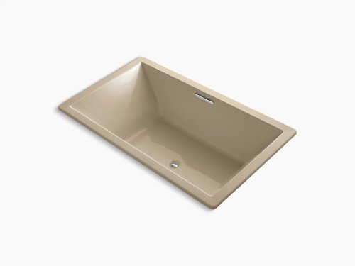 """Mexican Sand 72"""" X 42"""" Drop-in Vibracoustic Bath With Bask Heated Surface and Center Drain"""