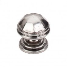 London Knob 1 1/4 Inch - Pewter Antique