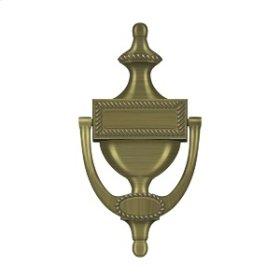 Door Knocker, Victorian Rope - Antique Brass