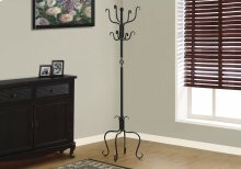 "COAT RACK - 74""H / TRADITIONAL HAMMERED BLACK METAL"