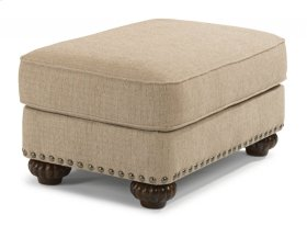 Patterson Fabric Ottoman with Nailhead Trim