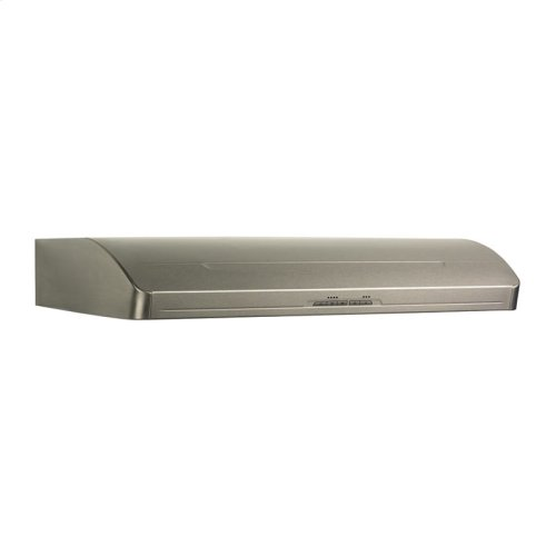 "Broan Elite 600 CFM Internal Blower, 30"" wide Undercabinet Mount Range Hood in Stainless Steel"