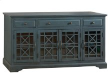 "Craftsman Antique Blue 60"" TV Console"