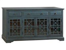 "Craftsman Antique Blue 60"" TV Console"
