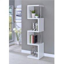 Modern White Four-tier Bookcase