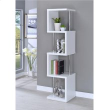 Modern White Four-tier Bookcase