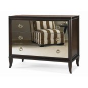 Tribeca Bachelor Chest With Mirrored Drawers