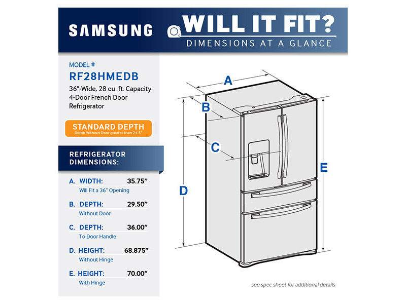 Find Samsung Refrigerators In Mass French Doors Rf28hmedbsr