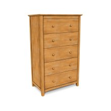 Lancaster 5-Drawer Chest. Solid wood panel sides & full extension drawer glides