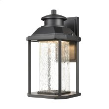 Irvine Sconce in Matte Black with Seedy Glass - Integrated LED