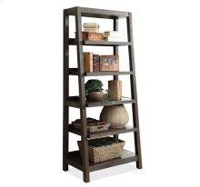 Promenade Canted Bookcase Warm Cocoa finish