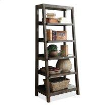 Promenade Canted Bookcase Warm Cocoa finish