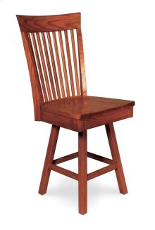 "Loft II Swivel Barstool, Side, Specify Seat Height 17""-31"", Fabric Seat"