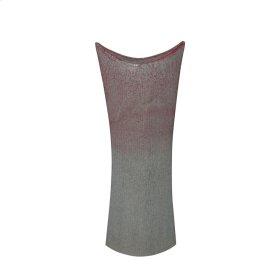 "Ceramic 23.5"" Mermaids Purse Vase, Burgundy Mix"