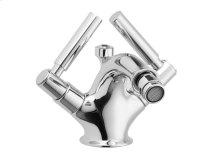 Single Hole Bidet Lever Handles - Polished Brass