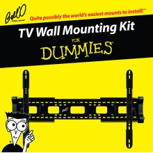 """Tilting expandable mount for most* 32 - 84"""" TVs including For Dummies installation guide and For Dummies step-by-step DVD video."""