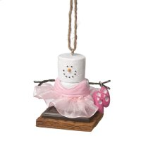 S'mores Ballerina Ornament. Product Image