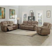 "Isabella Console Loveseat Recliner Sand 79.5""x37.4""x42"" Product Image"