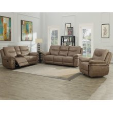 "Isabella Console Loveseat Recliner Sand 79.5""x37.4""x42"""