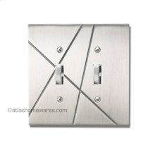 Modernist Double Toggle Switch Plate