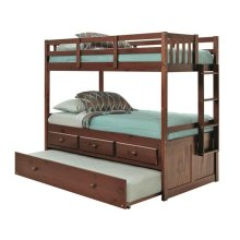Pine Ridge Bunk Bed with Storage and Trundle