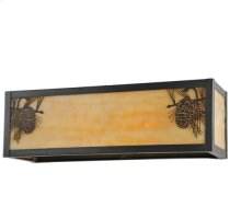 "16""W Winter Pine Wall Sconce"