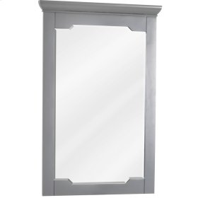 "22"" x 34"" Grey mirror with beveled glass"