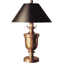 Visual Comfort CHA8172AB-B E. F. Chapman Classical 24 inch 40 watt Antique-Burnished Brass Decorative Table Lamp Portable Light in Black Paper