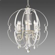Ella 6 Light Chandelier in French White