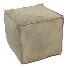 Jules Suede Pouf Light Grey