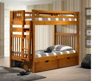 Stairway Bunk Bed With Short Ladder With Ubc Product Image