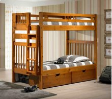 Stairway Bunk Bed With Short Ladder With Ubc