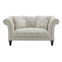 Emerald Home Hutton II Loveseat Nailhead W- 2 Pillows Natural U3164-01-29