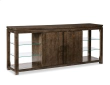 Glass Shelf Console Cabinet